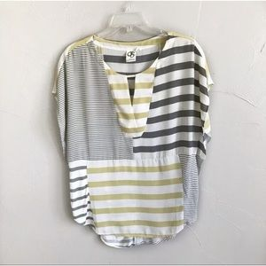 Anthropologie One September Striped Blouse c14